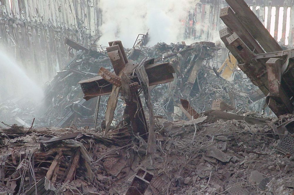 The World Trade Center Cross - by Anne Bybee, Copyright © 2001