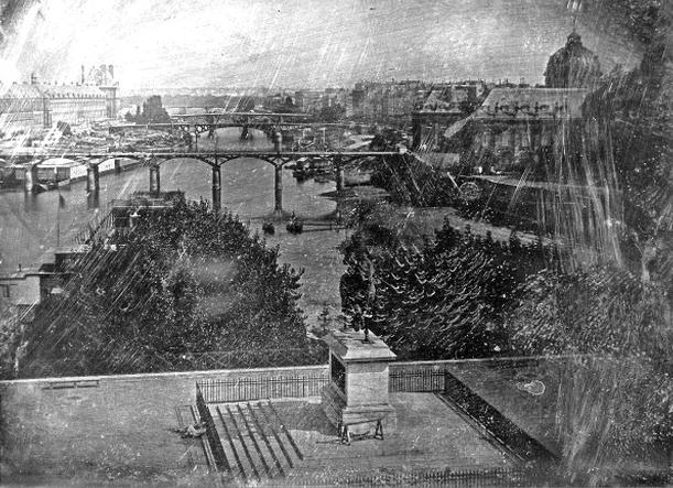 «Utsikt over Pont Neuf» av Louis Jacques Mandé Daguerre