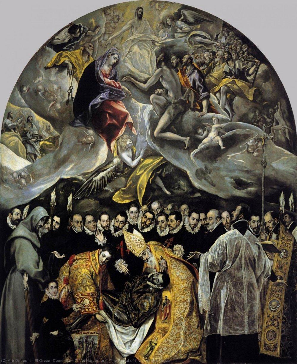 Grev Orgaz' begravelse  av El Greco, 1586