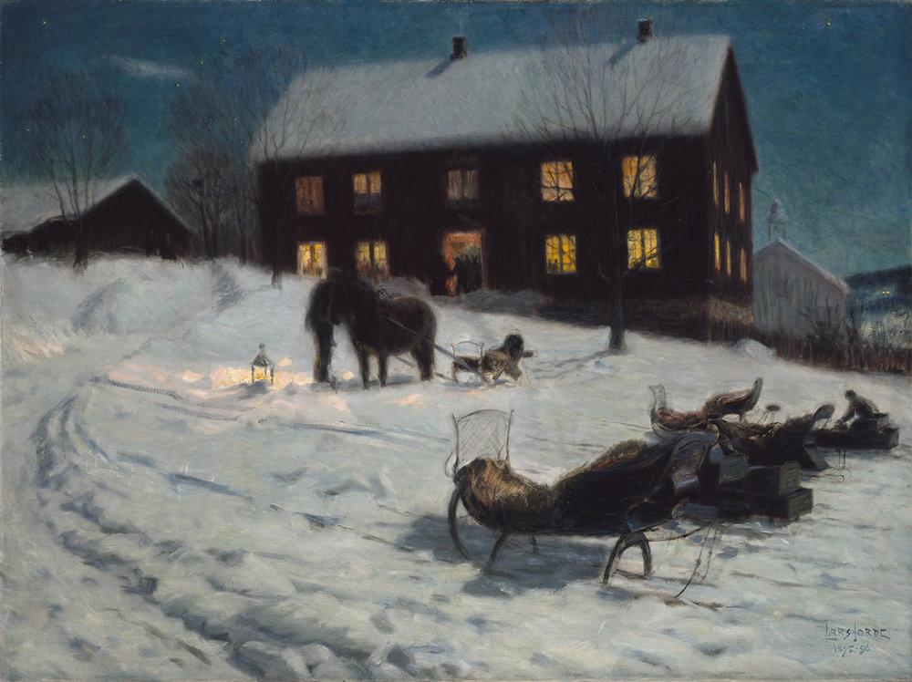 Julegilde  av Lars Jorde, 1895–1896
