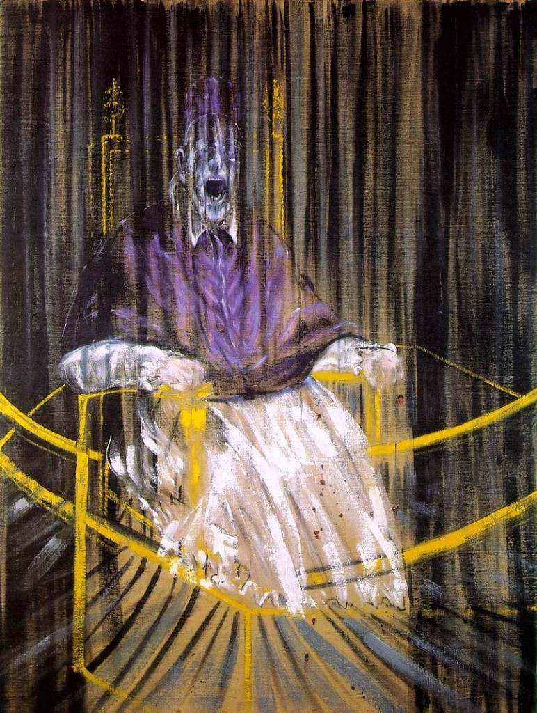 Study after Velázquez's Portrait of Pope Innocent X  av Francis Bacon, 1953