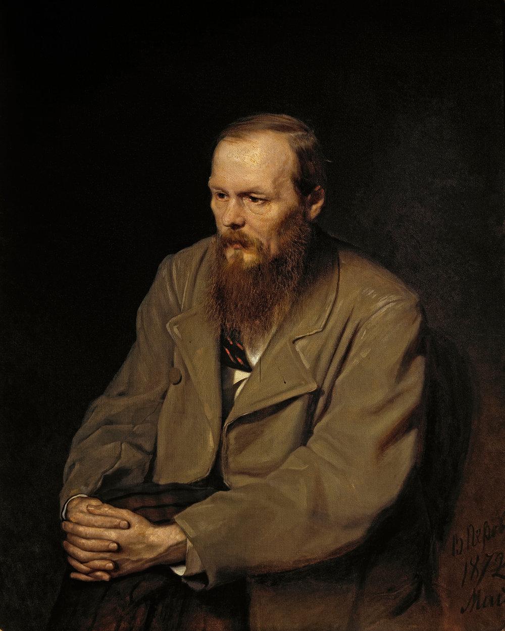 Fjodor Dostojevkij malt av Vasily Perov. 1872