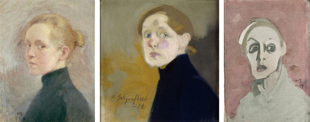 Selvportretter av Helene Schjerfbeck