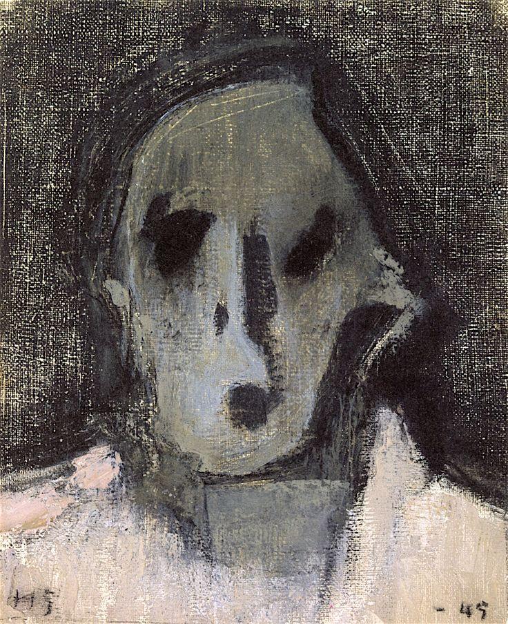 Selvportrett  av Helene Schjerfbeck. 1945
