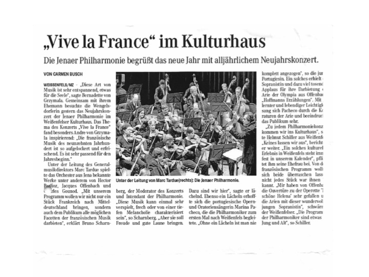 In Mitteldeutsch Zeitung by Carmen Busch