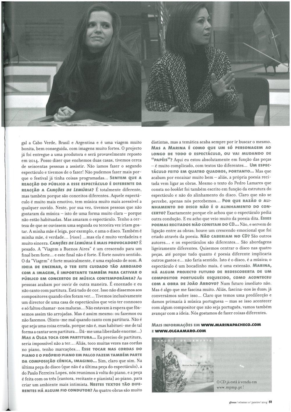 """""""Canções de Lemúria"""" in Glosas (2)"""