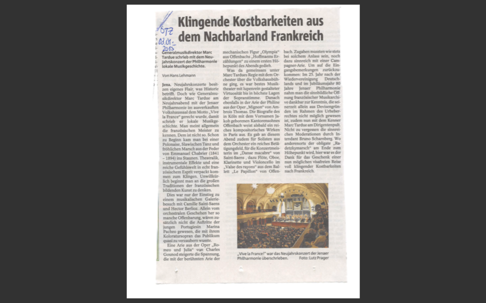 In Ostthüringer Zeitung by Hans Lehmann