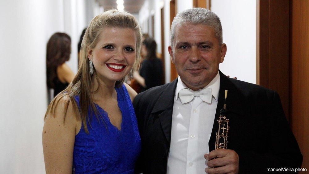 Com o oboísta Francisco Luís Vieira  Gondomar | Setembro 2017  @manuelVieira.photo