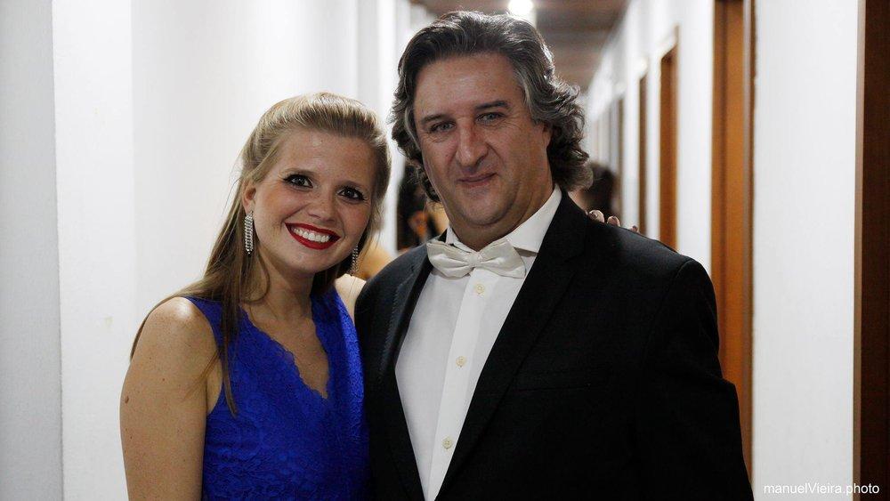 With violinist Francisco Tavares  Gondomar | September 2017  @manuelVieira.photo