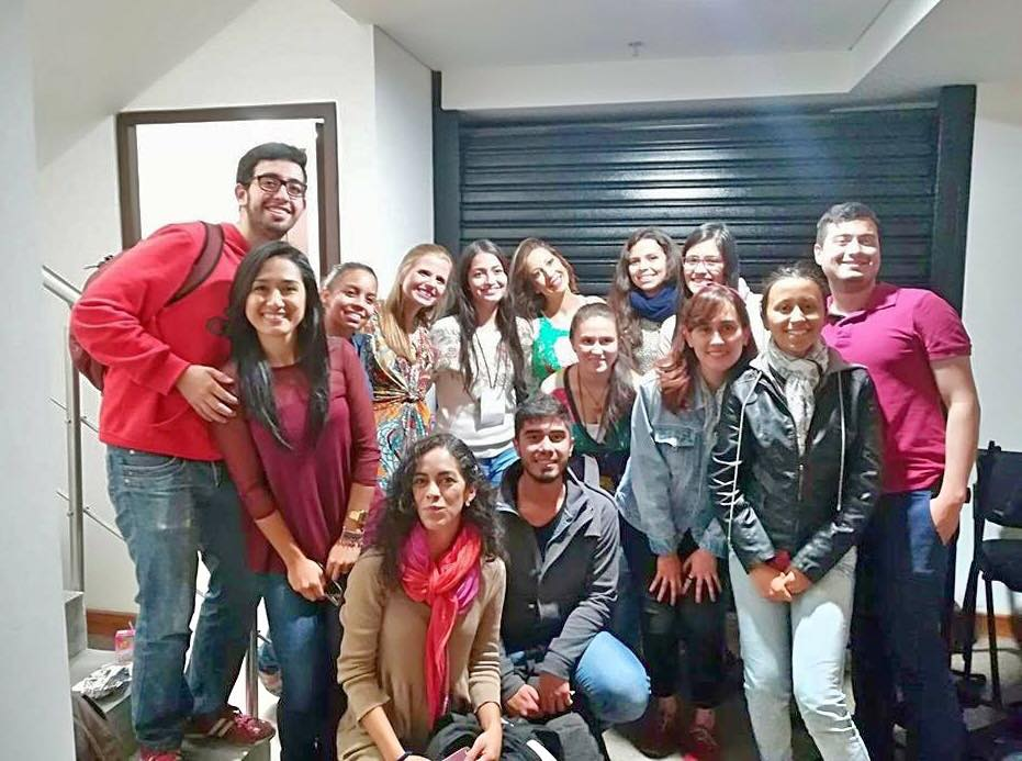 With soprano Jenny Moreno and her students  Manizales | August 2017