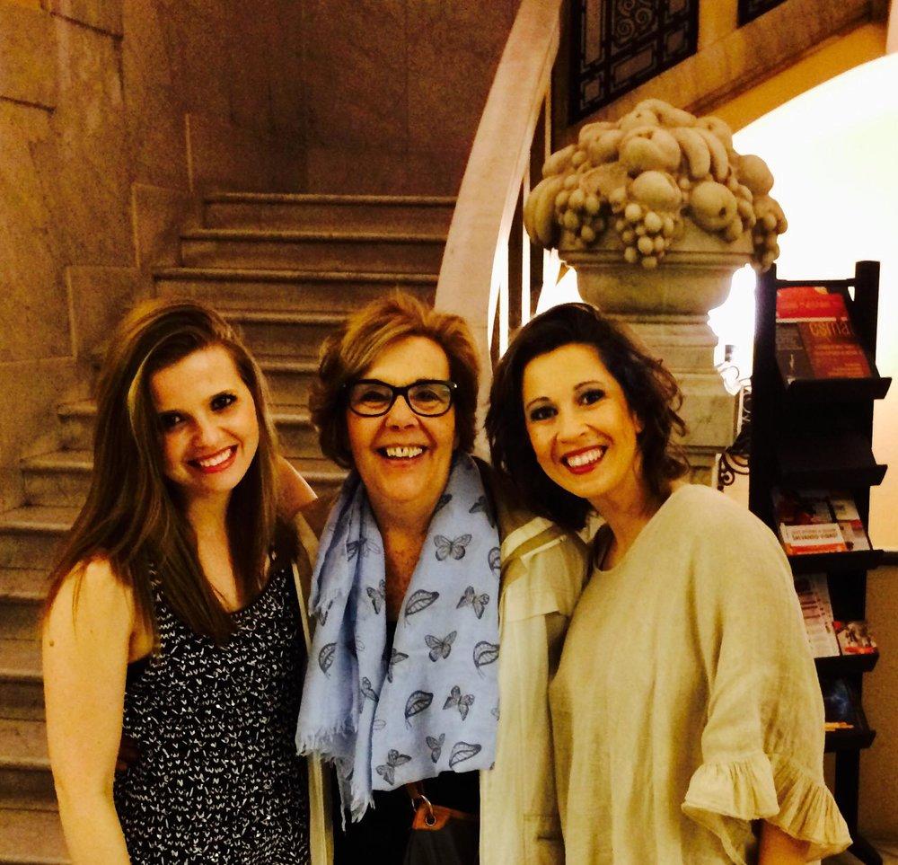 With pianists Asunción Gobianes and Olga Amaro  Barcelona | May 2017