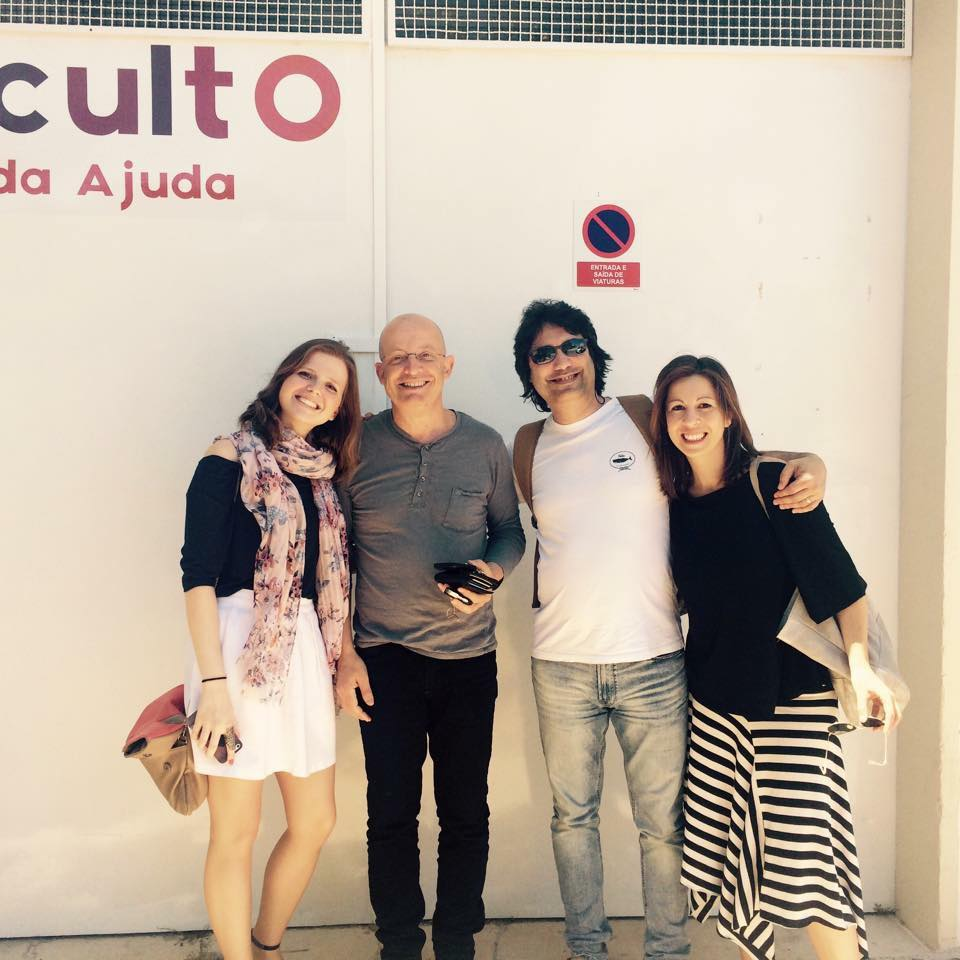 With composers Miguel Azguime and Eduardo L. Patriarca and pianist Olga Amaro  Lisbon | May 2015