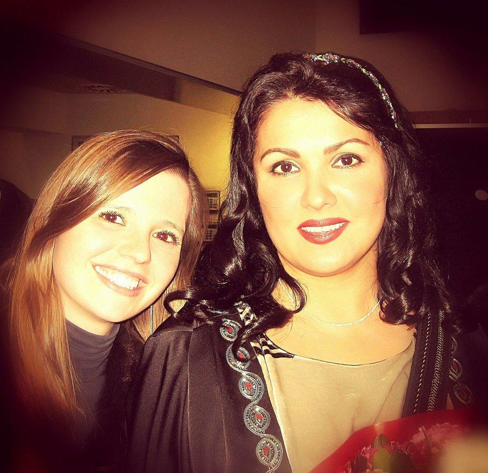 With soprano Anna Netrebko  Barcelona | January 2013