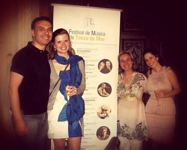 Com os pianistas Carles Lama, Sofia Cabruja e Olga Amaro  Tossa de Mar | Agosto 2012