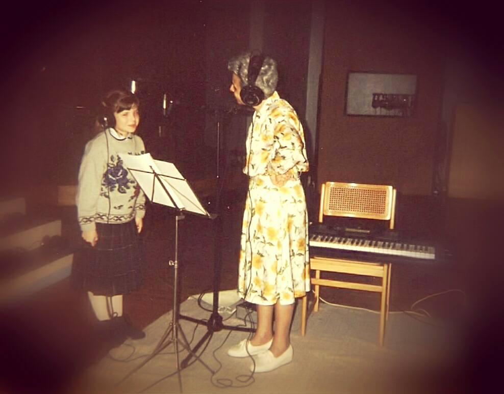 With musical director Mariele Ventre (37ºZecchino D'oro)  Bologna | November 1994