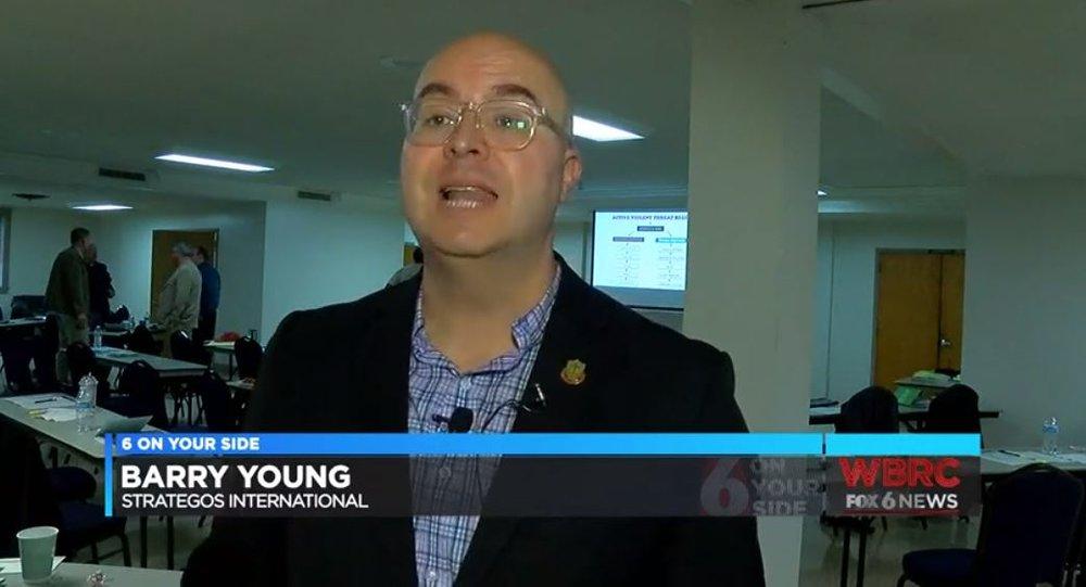 Barry Young of Strategos International speaks to FOX 6 of Birmingham, Alabama