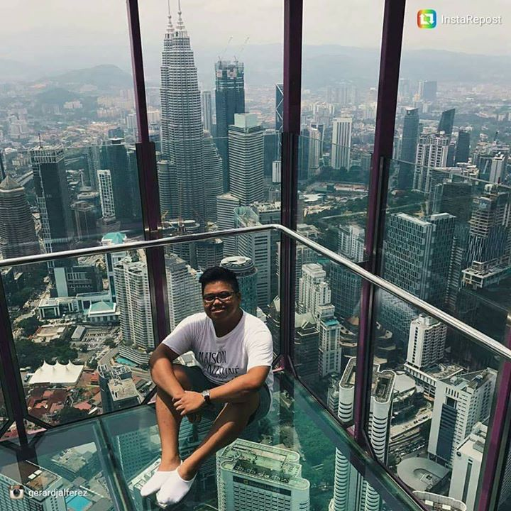 Gerard Alfarez pictured at the KL tower
