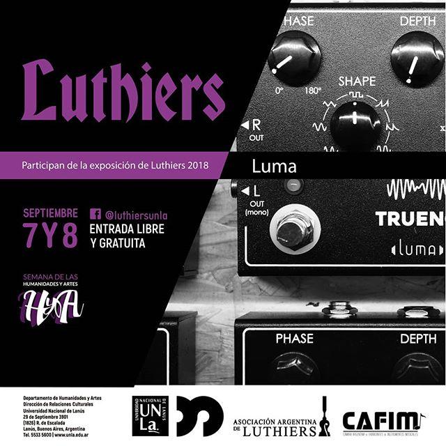 Expo Luthiers en @luthiersunla  7 y 8 de septiembre con entrada libre y gratuita!  Los esperamos  #lumatrueno #industriaargentina #dsp #cafim