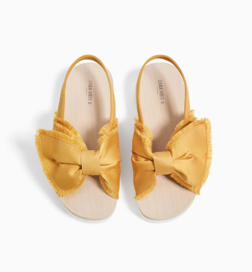 Zara (5-12yrs) Bow Sandal — Bows + Arrows