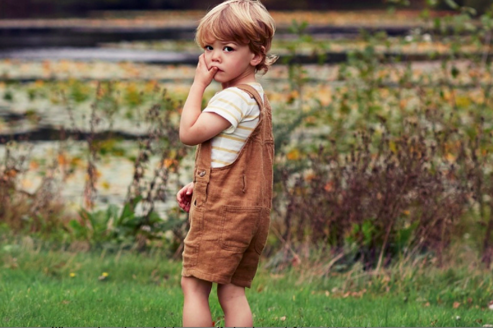 Dotty Dungarees Caramel Linen Shorts £38 -