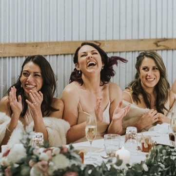 How to make sure your hair survives the fun of the night? It's all in the prep! Absolutely love this beautiful pic, capturing what weddings are about ♡