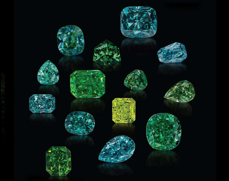 The Gamma Green Collection - Brought together over 20 years, the Optimum Gamma Green Collection is a group of 50 of the most rare and prestigious natural green diamonds in the world.