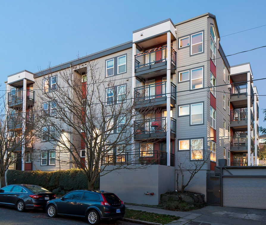 - Client: Howell Street Associates, LLCLocation: Seattle, WACompletion: 2017Project Size: Replacement of Exterior Siding, Windows, Doors, Balcony Railing and Membrane, and Terrace Membrane