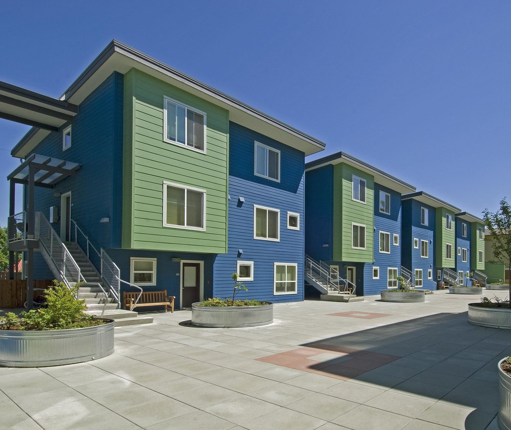 - Client: Delridge Neighborhoods Development Association & The West Seattle Food BankLocation: Seattle, WashingtonCompletion: 2007Project Size: 34 1, 2, and 3 Bedroom Apartments, 10,000 SF of Social Services, Basement Parking