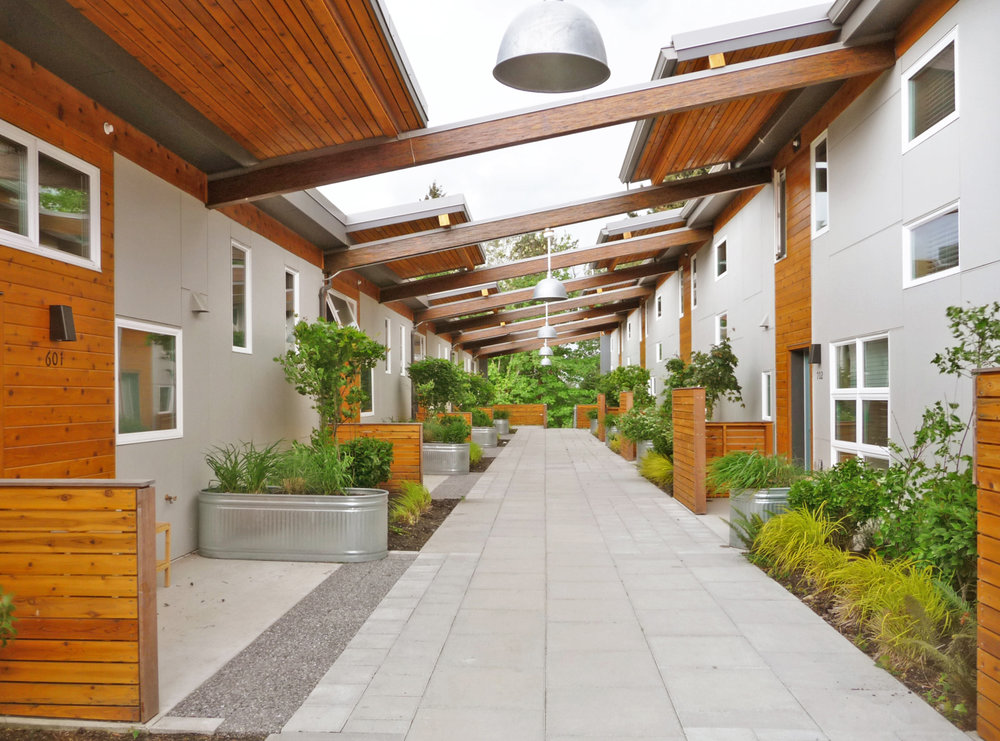 - Client: Puyallup Tribal Housing AuthorityLocation: Tacoma, WashingtonCompletion: 2013Project Size: 20 New Townhomes, 26 Renovated Townhomes, Gymnasium Renovation & Addition