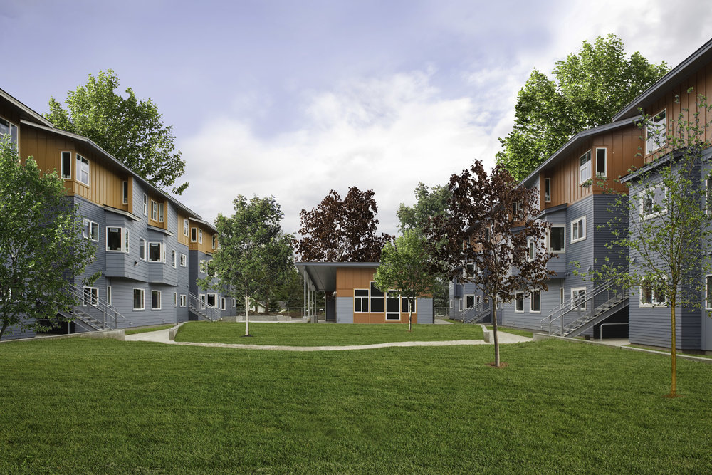 - Client: Catholic Housing Services of Western WashingtonLocation: Centralia, WashingtonCompletion: 2010Project Size: 50 Units, Commons Buildings