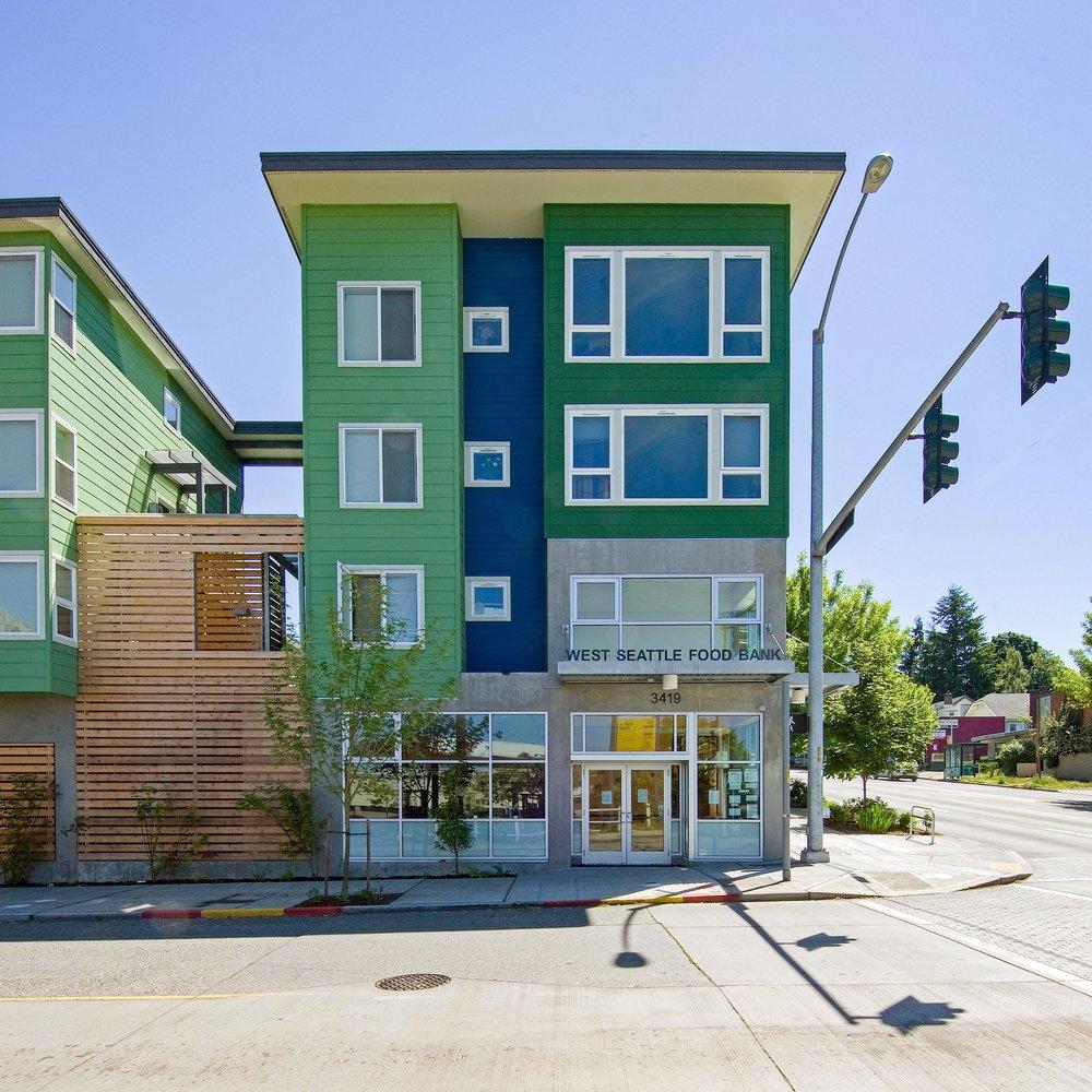 - Client: Delridge Neighborhoods Development Association & the West Seattle Food BankLocation: Seattle, WACompletion: 2007Project Size: 10,000 SF of social services, basement parking