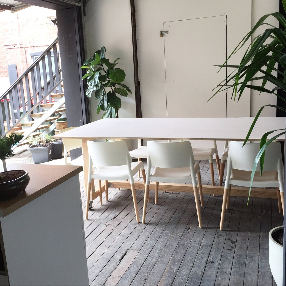 Breakaway and Meeting Spaces - For important discussions, lunch breaks or to spread out from your desk or makers space.