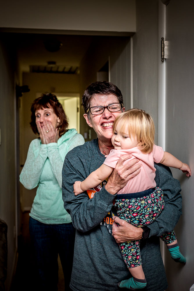 Grandmas react to finding out the new baby is a boy at a Saint Louis home birth.jpg
