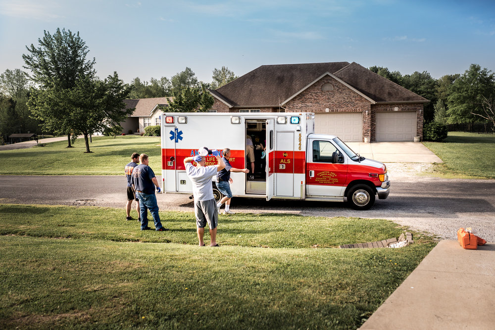 Baby transfers from home birth to the hospital via ambulance transport