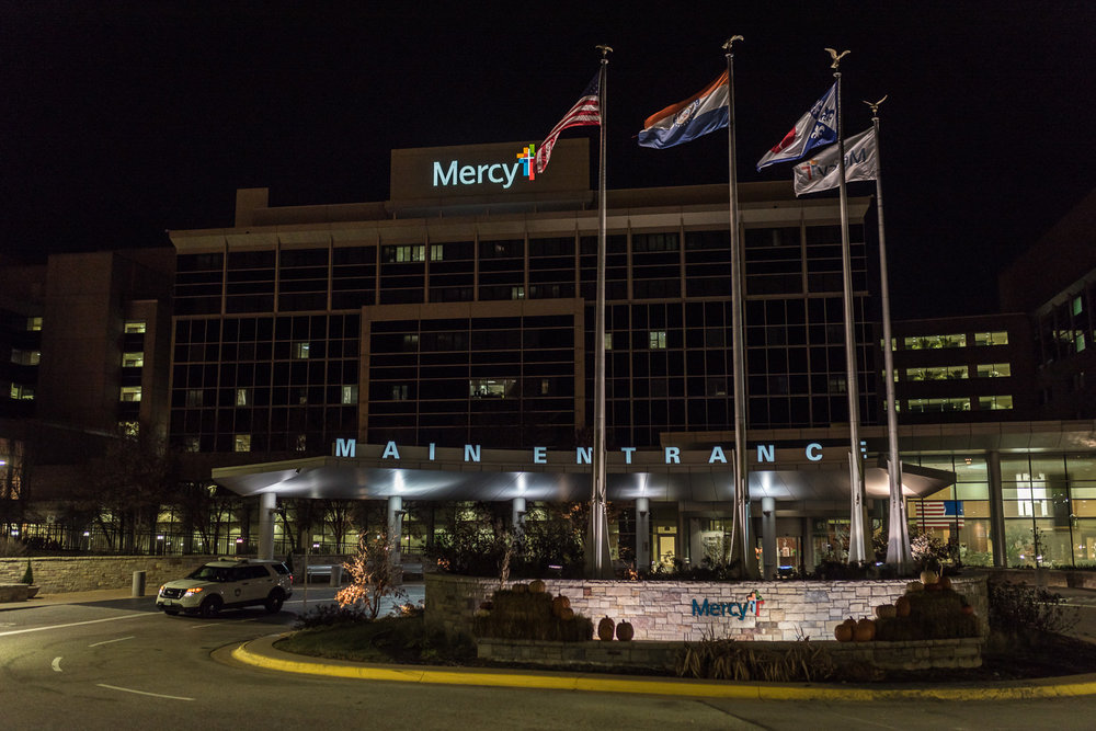 Locations where you can have your birth photographed include  hospitals such as the one pictured, Mercy, birth centers, and your own home.