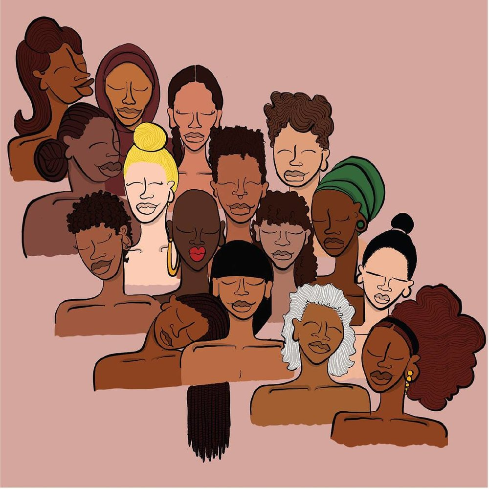 Illustration from By Ms James' Phenomenal Woman collection