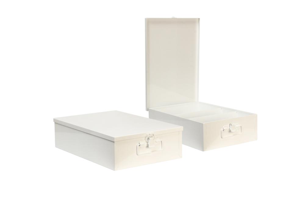 "#120 Medium Kit (3 Shelf)   Inside dimensions 13 5/8 x 9 1/2 x 3 3/4"" 22 ga steel / individual weight 5 1/2 lbs Shelf spacing top to bottom—4 1/4"", 3 1/2"", 5 7/8"" Master carton 8 per / 45 lbs Gloss white powder coating"