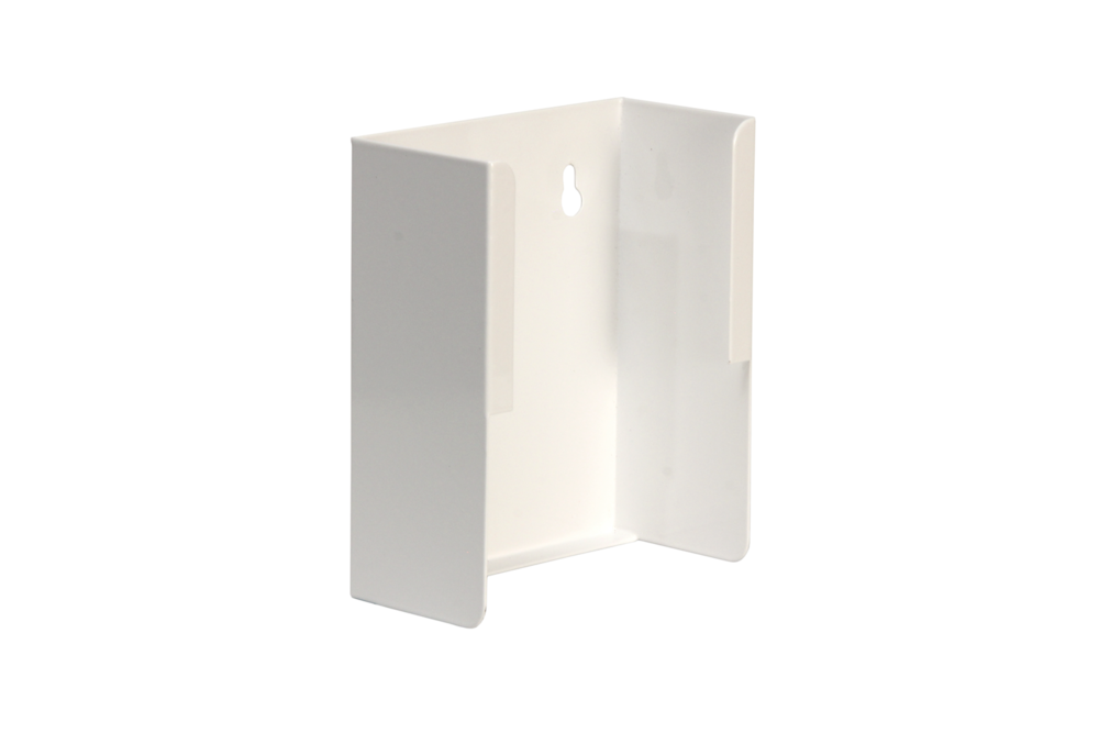 "Universal Wall Mount Bracket / Small   Inside dimensions 5 x 6 1/2 x 3 3/4"" 20 ga steel / individual weight 0.5 lbs Master carton 26 per / 22 x 10 x 13"" / 13 lbs Gloss white powder coating"