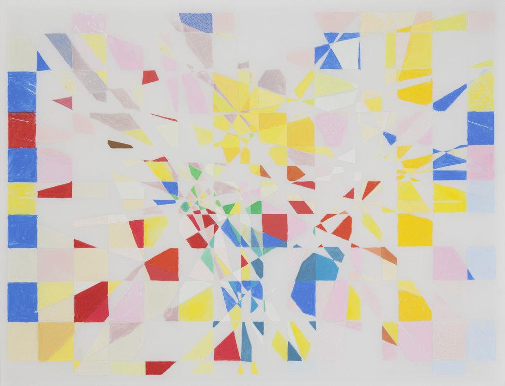 """Summer/Fall, 2010, 11"""" x 14"""", Gouache on Mylar"""