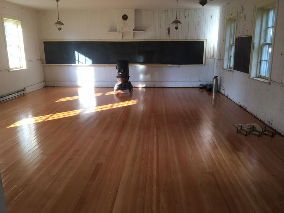 This is the original 1850 one room school house of Guilderland NY.  The original hewn floor timbers and subfloor were completely destroyed by beetles and rot, and had been built on loose stone piles.