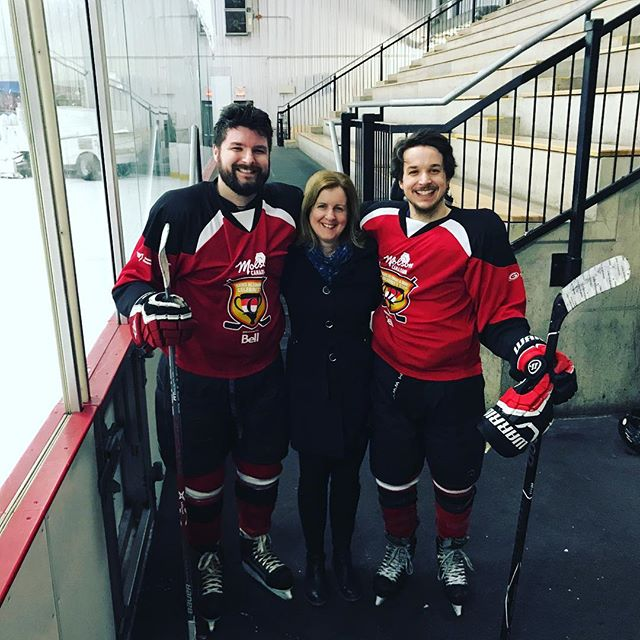 Great day at the @ottawasenatorsfoundation celebrity cup! Had @awillrobillard as my D partner and even got to hear the sounds of legendary hockey mom @barrettrobillardpatti in the crowd. Thanks to everyone who donated!