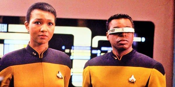 Mae Jemison und LeVar Burton in Star Trek: The Next Generation, Staffel 6 Folge 24.