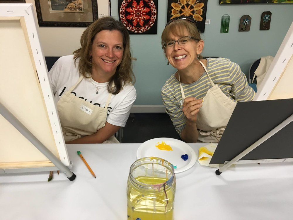 Art Classes & Workshops - Many of our talented artists teach classes here at Blue Moose. Want to be inspired, learn new things and have a great time?  Come join us!  All levels welcome!