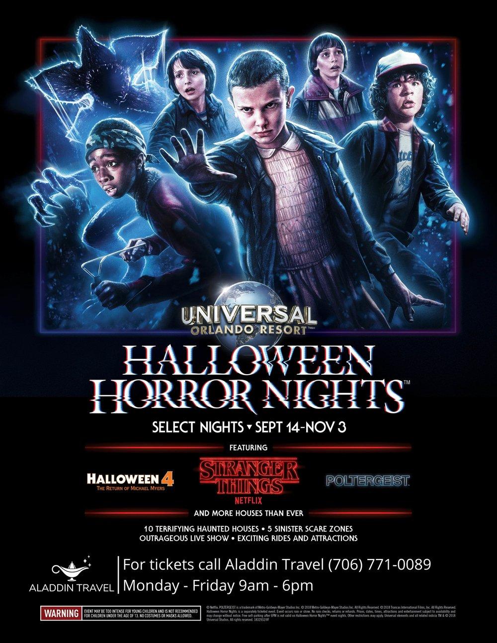 Halloween Horror Nights Tickets