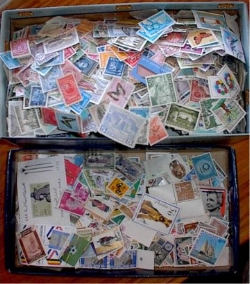 UNORGANIZED STAMP COLLECTIONS