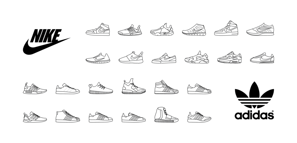 When you get bored at work, sometimes you make shoes in illustrator.