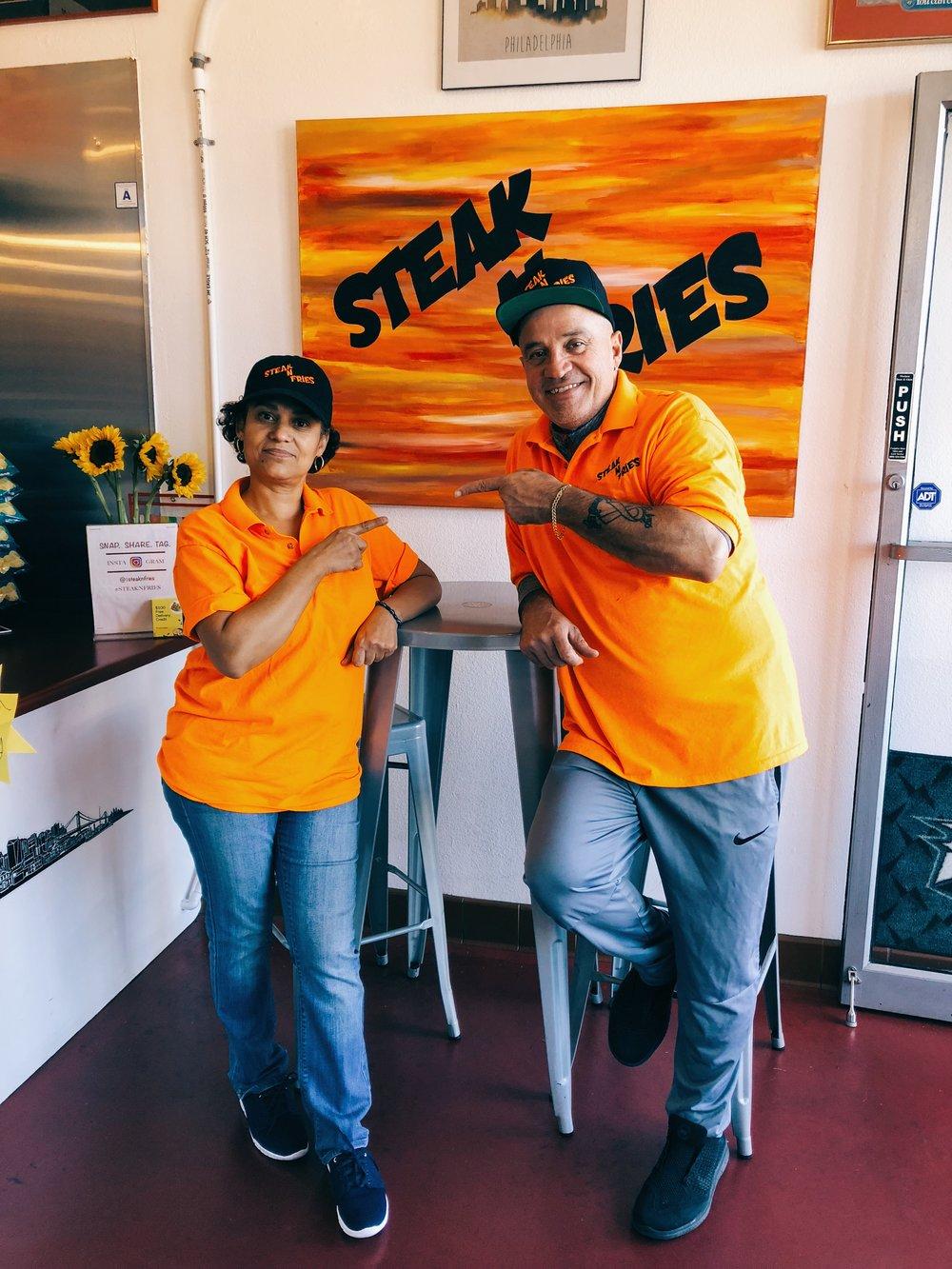 Angela and Angel, Owners of Steak N Fries