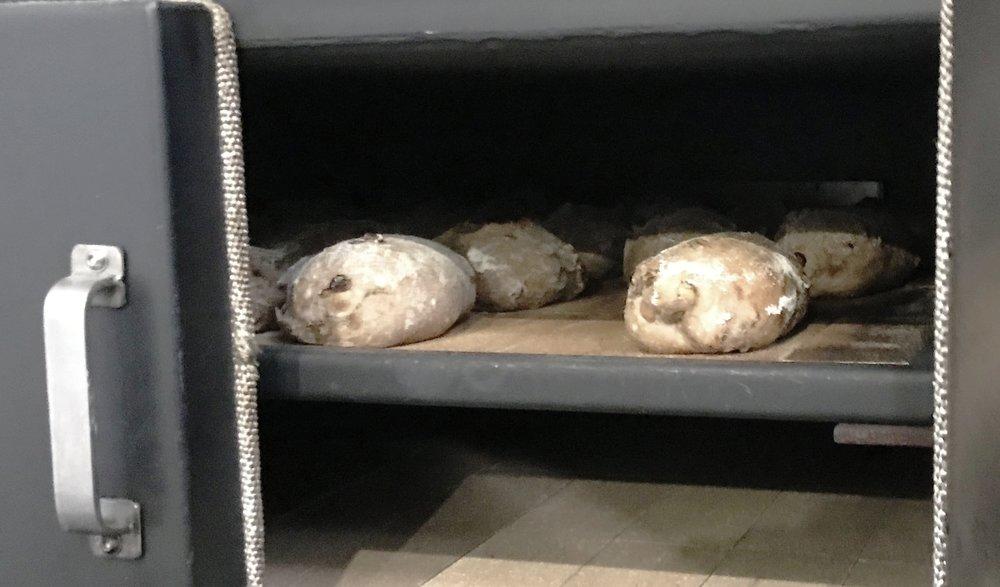 Loaves after 'shuffling'.