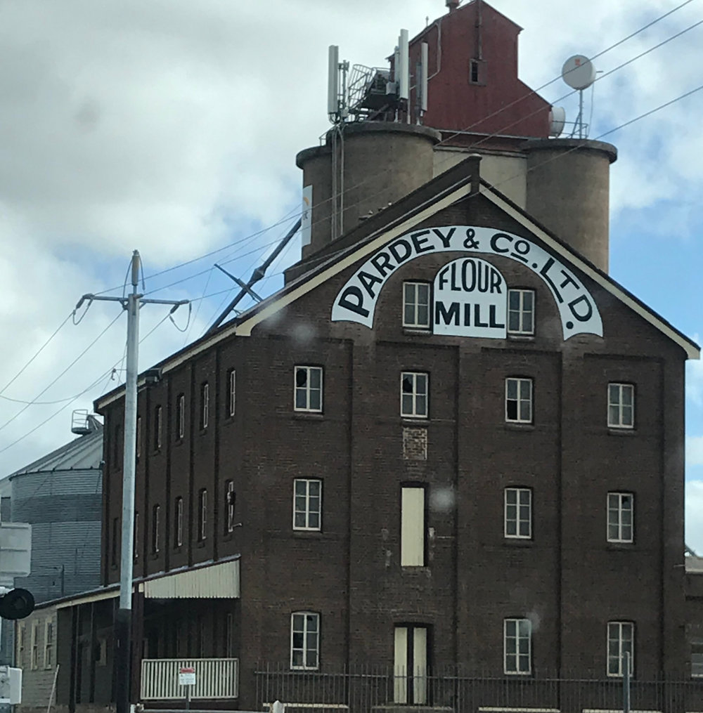 This flour mill in Temorah no longer operates, but they've kept the lettering fresh!