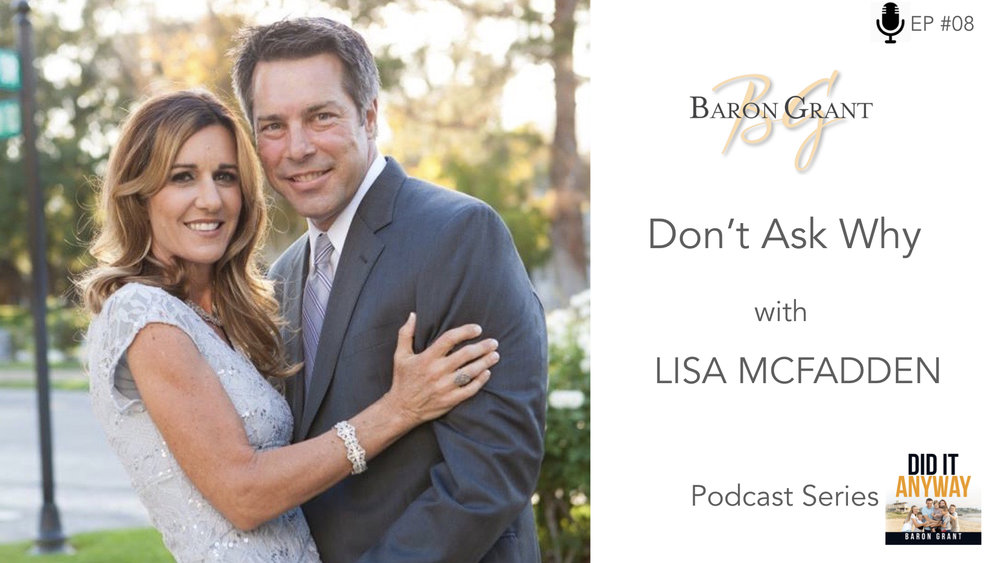 - When a spouse dies it can almost be too much to bear. Lisa shares her story of her husband of 23 years passing away unexpectedly. Lisa gets back on her feet, moves states after meeting an amazing new man, whom she would go on to marry. After only 3 months of marriage Lisa is is given a challenge that is almost too much to bear. Listen to Lisa's amazing story of resilience as she battles through each day with a attitude of gratitude, helping her to stay positive and keep moving forward in spite of her challenges.